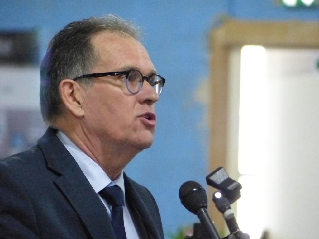 Alain Cadec, président du Conseil départemental des Côtes d'Armor, a pris la parole…