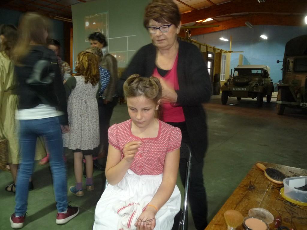 … et coiffure, toujours avec Denise !