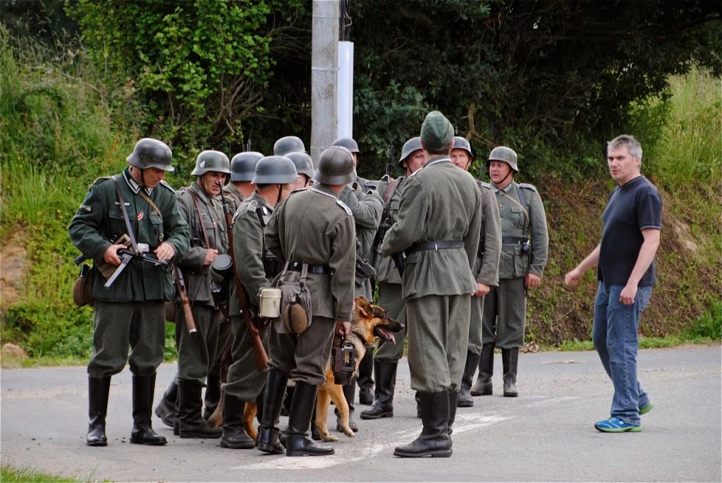Mise en place de la patrouille : le tournage de la scène va pouvoir commencer…