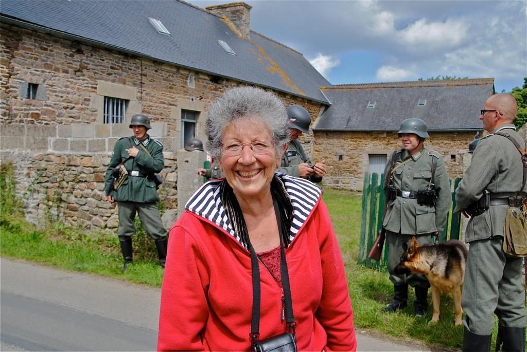 Monique Bondoux, la présidente de l'association Les Mémoires de l'Histoire, toujours souriante !