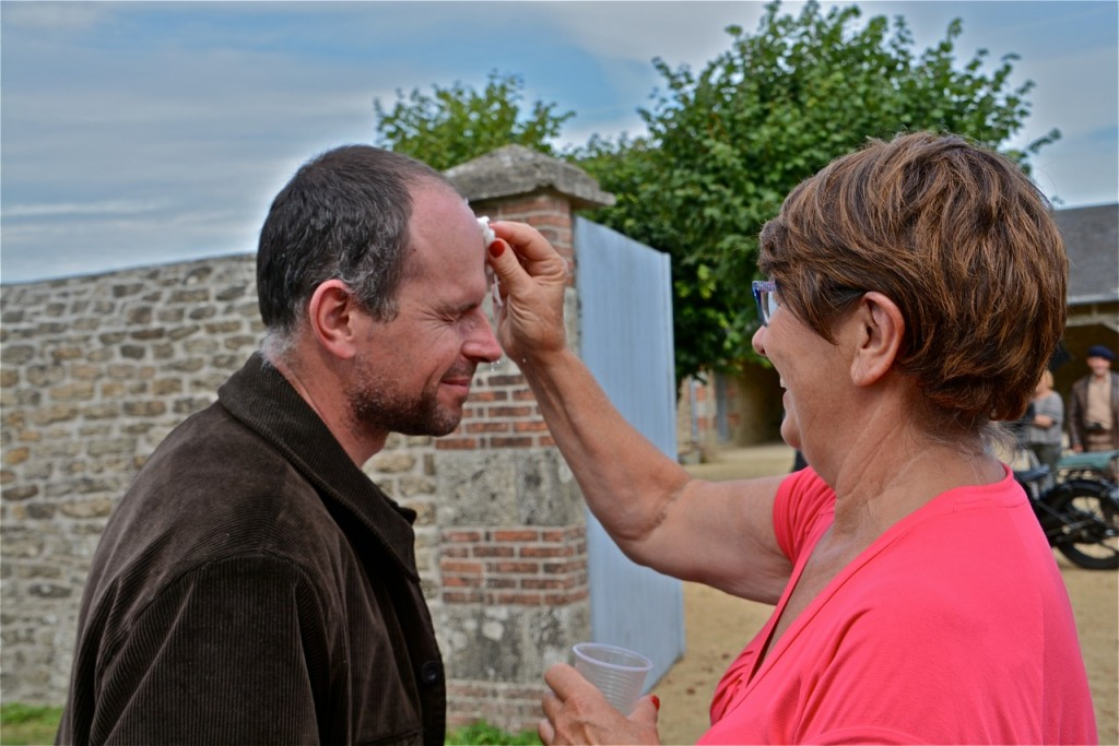 Raccord maquillage pour Erwann Ruaud.