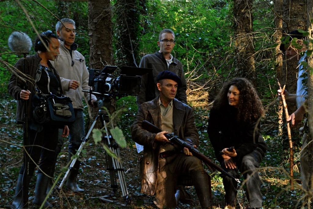 La caméra est en place, sous l'œil d'Alexandra Robert et Laurent Chandemerle.