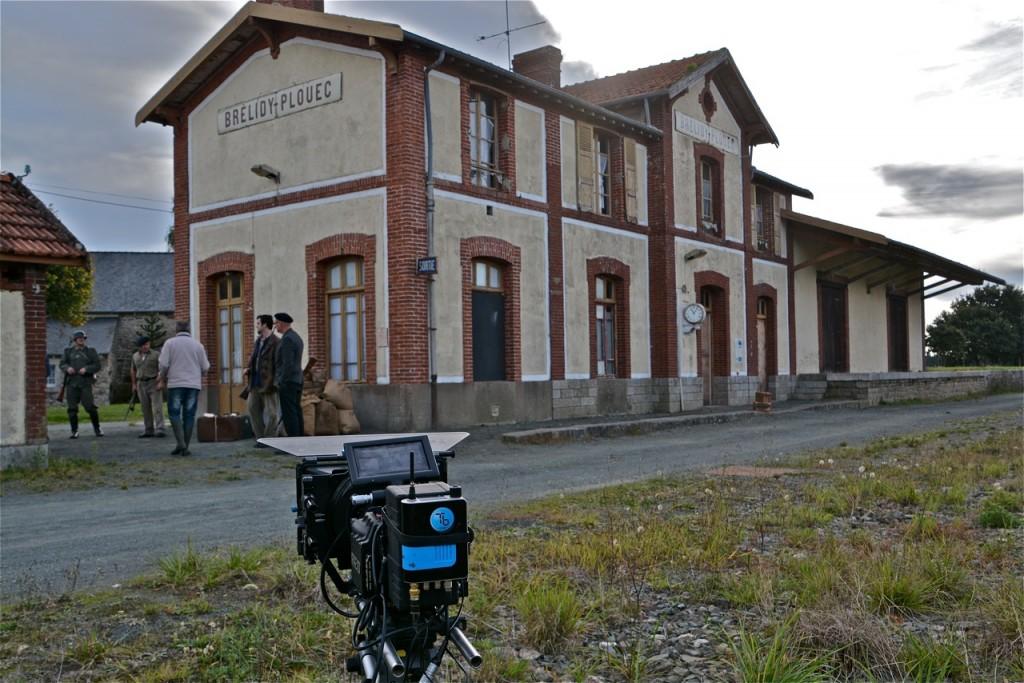 Sous l'œil de la caméra, la gare de Brélidy-Plouec-du-Trieux.