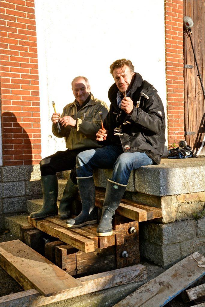 Eric Simonin (à droite) et Jean-Jacques Le Guilou : les rois de l'escalier en bois !