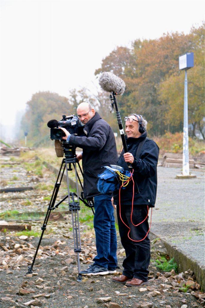L'équipe a également filmé l'ambiance du tournage.