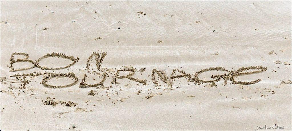 Ecrit sur du sable…