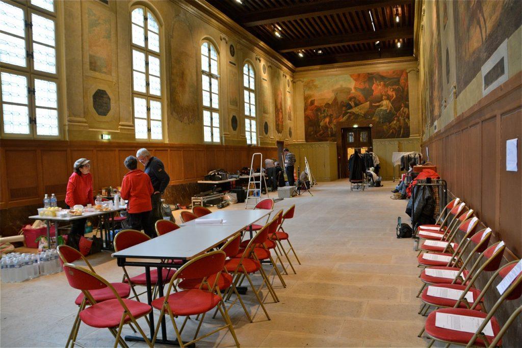 La salle Turenne a servi de régie et de cantine pendant les deux jours de tournage.