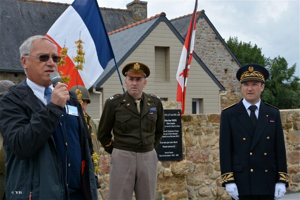 Jean-Michel Martin, vice-président de l'ABSA, a remémoré le parcours du pilote canadien.