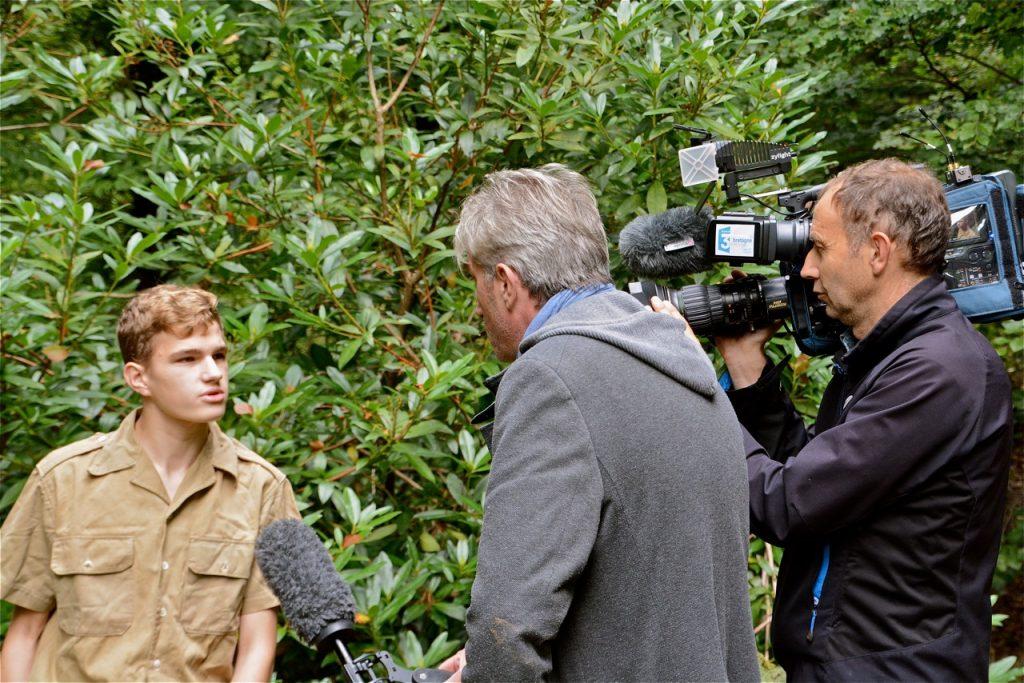 L'un des figurants interviewé par l'équipe de FR3.