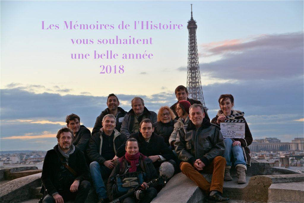 Vœux 2018 Mémoires de l'Histoire blog